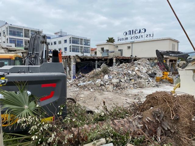 La Ciotat : la démolition de l'ancien casino a commencé